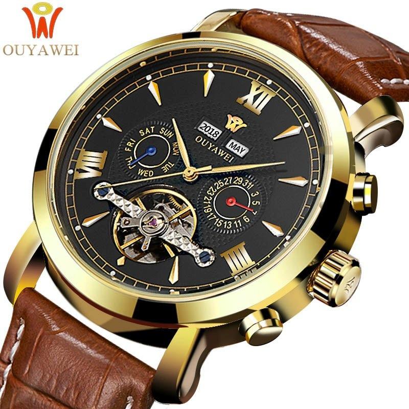 Lujo Ouyawei Relojes Marca Mecánico Superior Hombres iOPkTXZu