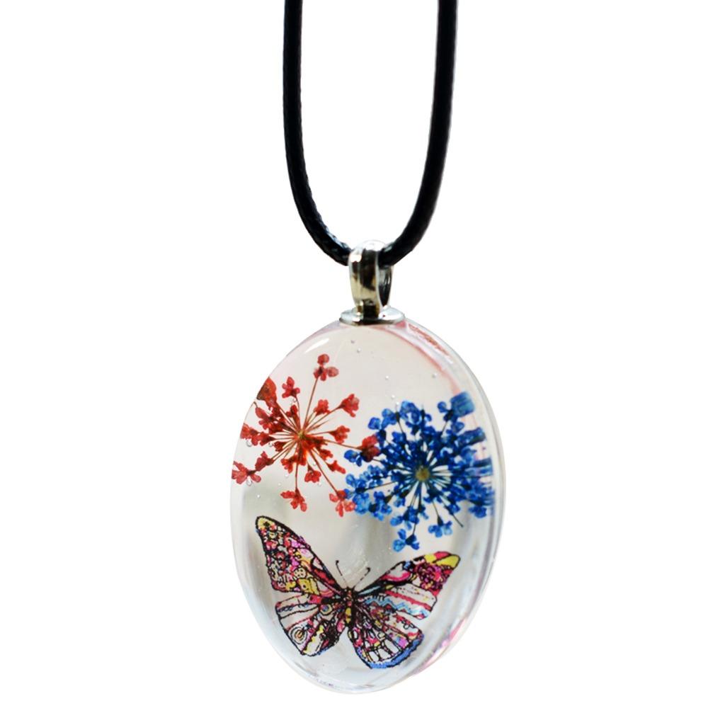 085c7e21f732 ovalada vidrio cabochon colgante para collar seco flor charm. Cargando zoom.