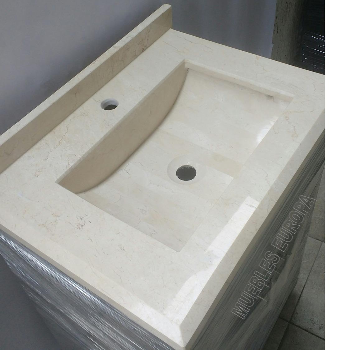 Ovalin cubierta lavabo integrado de marmol para ba o for Pared de bano de concreto encerado