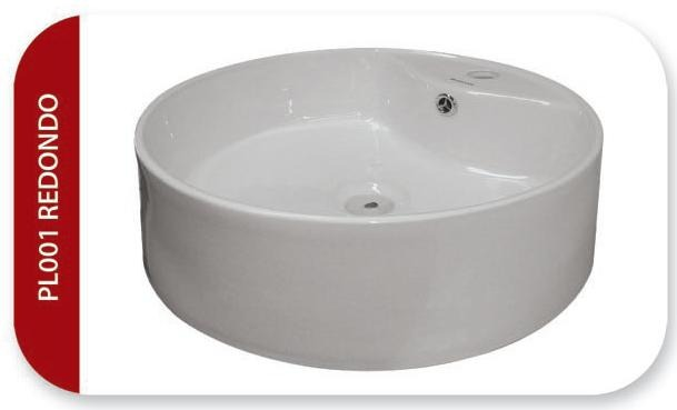 Ovalin de sobreponer para lavabo de cer mica blanco 1 en mercado libre - Lavabos de sobreponer ...