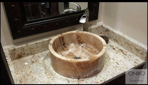 ovalines lavabos ónix 40cm de diametro o 40x40cm 15cm alto