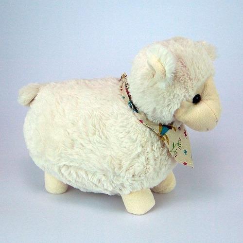 ovelha de pelúcia bandana g - fazendinha