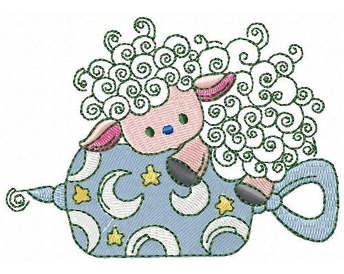 ovelhinha le boy - coleção de matriz de bordado