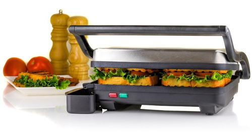 ovente 2-slice electric panini press grill y gourmet sand