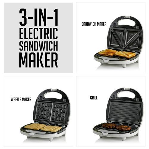 ovente 3- en -1 eléctrico sándwich fabricante con desmonta