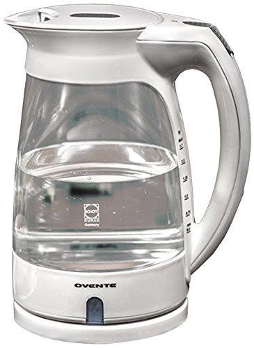 ovente kg82w vidrio hervidor eléctrico 17 litros blanco