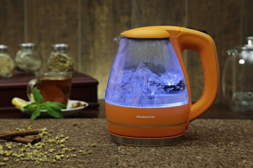 ovente kg83 series 15l vidrio hervidor de agua electrico