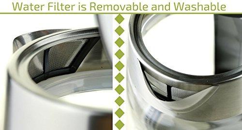 ovente kg83series 1.5l vidrio hervidor de agua eléctrico