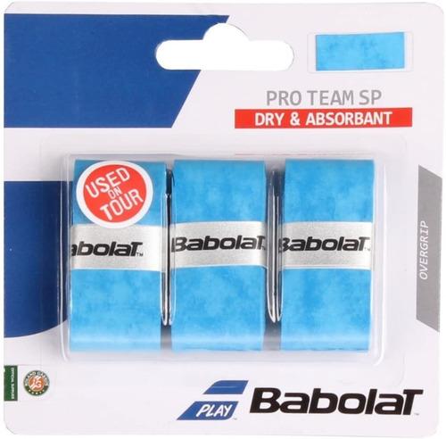 overgrip babolat pro team sp x 3  azul