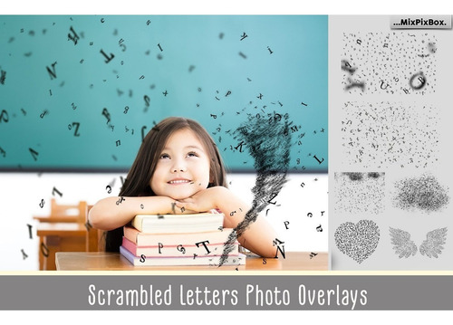 overlay scrambled letters photo overlays
