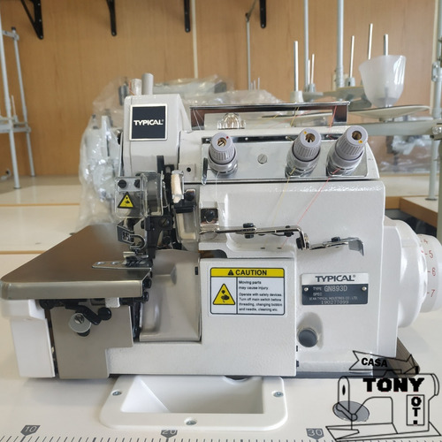overlock 3 hilos typical gn893d direct drive motor incorpora