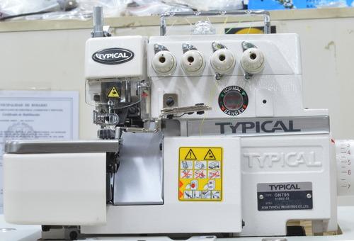 overlock 5 hilos  typical industrial con autolubricacion