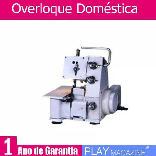 overloque doméstica overlock nova 110v garantia 1 ano+brinde
