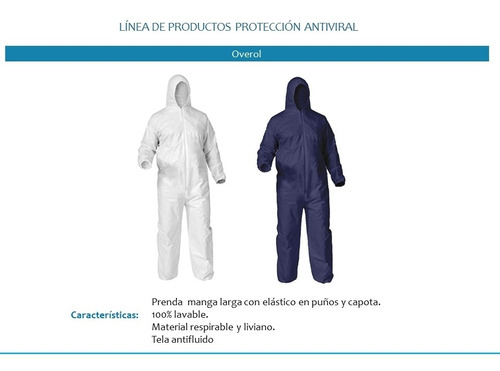 overol antifluido 100% poliéster talla xl