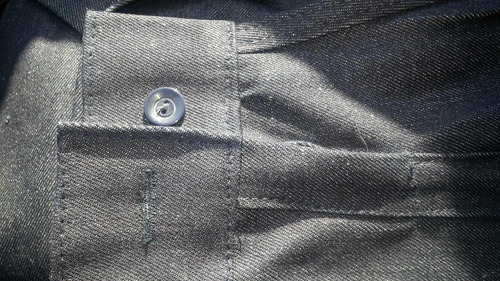 overol mezclilla indigo nacional, con botones.