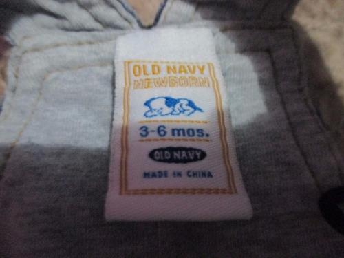 overol unisex marca old navytalla (3 - 6 meses)