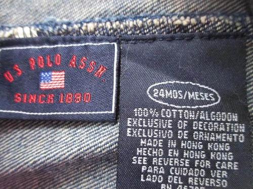 overol unisex marca u. s. polo assn. (talla 24 meses)