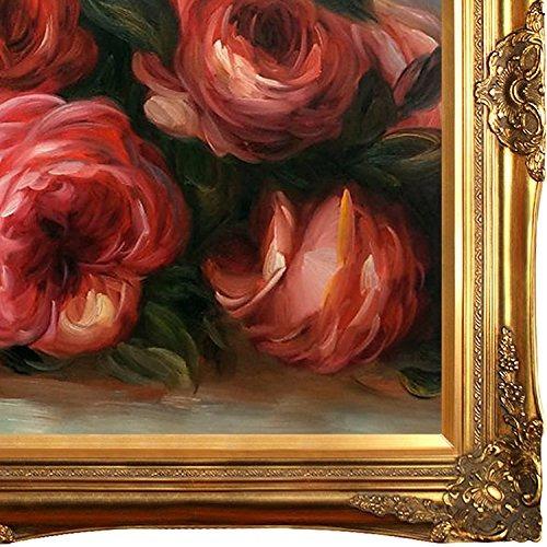 overtockart rosas desechadas con marco dorado victoriano de