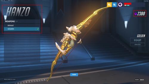overwatch c0nt* alta gm   s11 4354   duas armas douradas