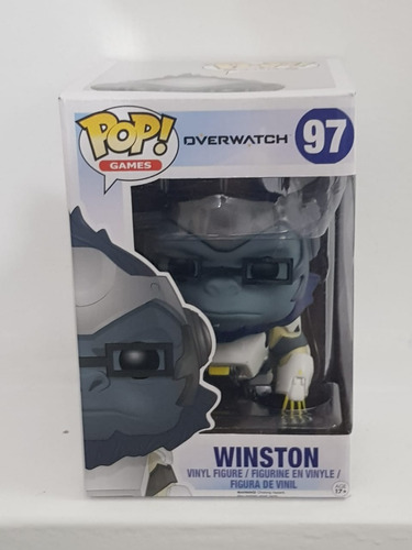overwatch - funko pop! - winston - 97 - gamer overdose