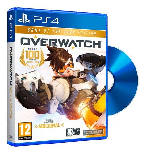overwatch ps4. edicion juego del año. incluye bonus. fisico
