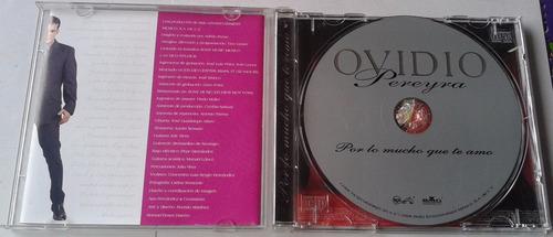 ovidio pereyra por lo mucho que te amo cd 1998 c/booklet