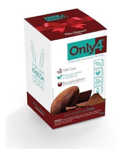 ovo de páscoa chocolate only4 70% cacau puro 160g