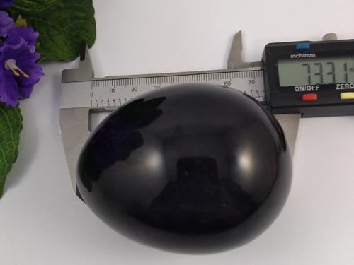 ovo obsidiana negra mexicana tamanho 7,0 cm j508