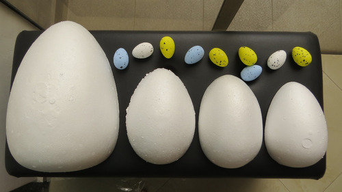 ovos de isopor  festas páscoa dinossauro amostra