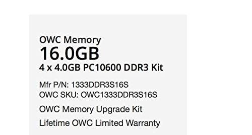 owc 1333mhz 204-pin ddr3 so-dimm pc3-10600 cl9 - módulo de a