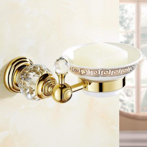 owofan jabón titular con blanco cerámica plato baño almac