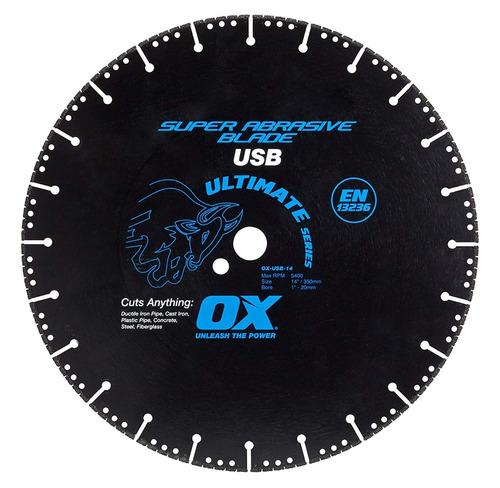 ox tools - hoja de diamante súper abrasivo, corte metal 14
