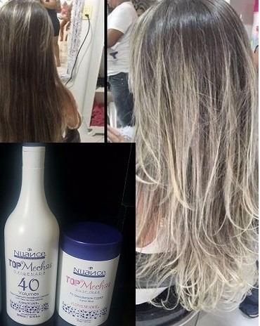 ox vol 40 + po descolorante nuance blond  com frete gratis