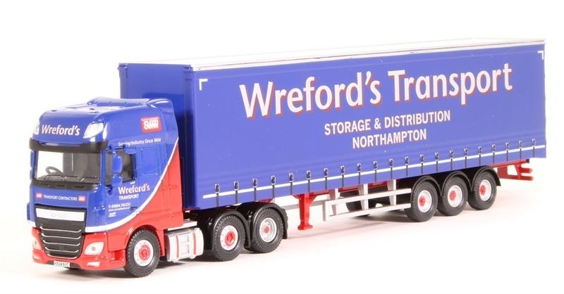 Oxford - Daf Xf Euro 6 Curtainside - Wreford's Transp  1/76
