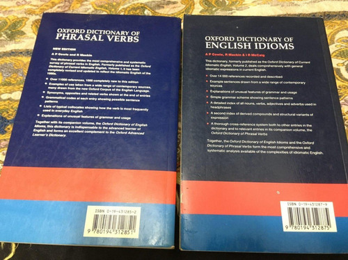 oxford dictionary en ingles. 2 volumenes. 5,5