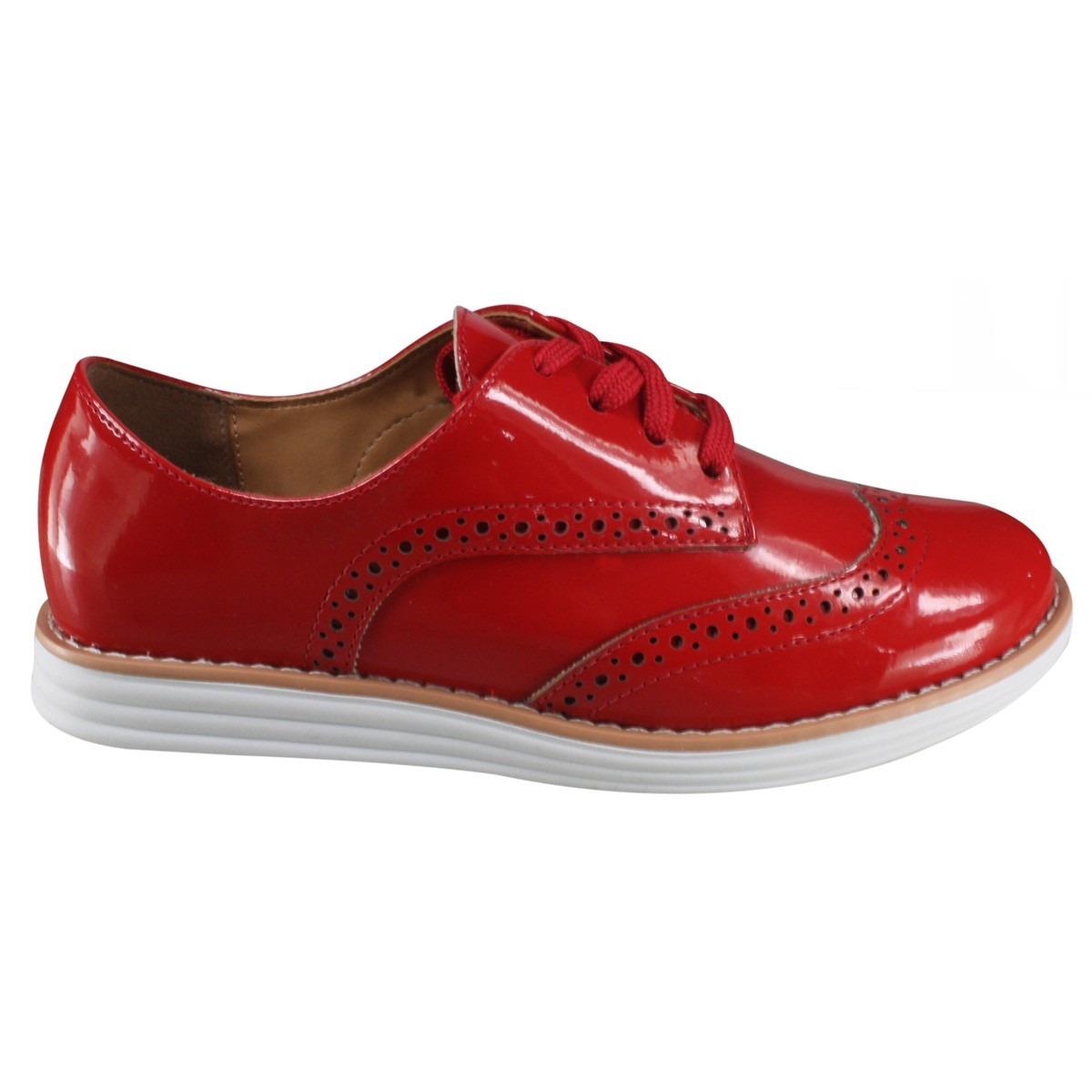 1e2a51748c oxford feminino verniz vermelho vizzano 1231.101. Carregando zoom.