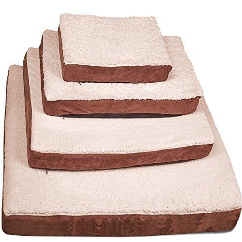 oxgord cama ortopédica, acolchado de espuma, color café