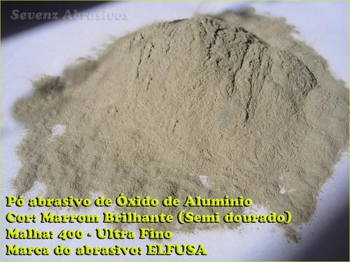 oxido de aluminio marrom malha 400 pó abrasivo polimento,etc