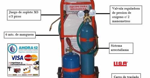 oxigas oxigeno 1 mt3 + gas + tubo nitro + reg refrigeracion