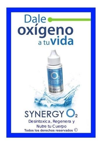 oxigeno liquido synergy o2 orig nutricion celular combo x 3