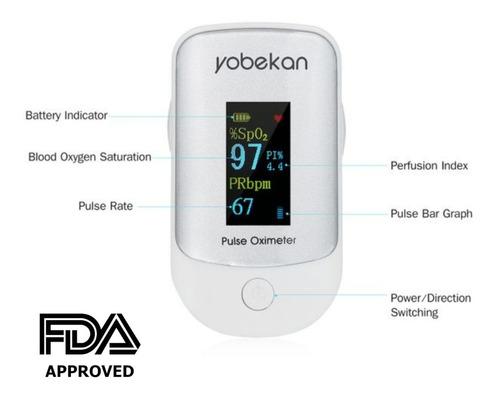 oximetro de pulso de dedo digital pulsioximetro yobekan