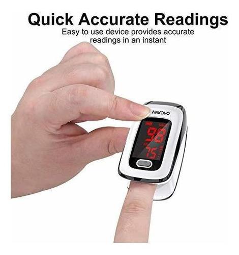 oxímetro de pulso para dedos (oxímetro), monitor de saturaci