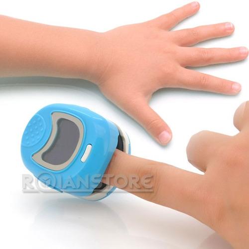 oxímetro de pulso pediátrico con batería recargable 3 color
