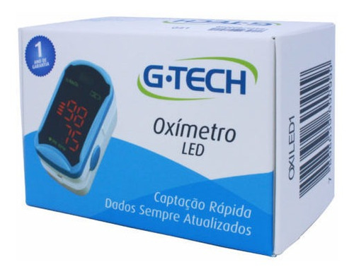 oximetro de pulso portatil de dedo led g tech