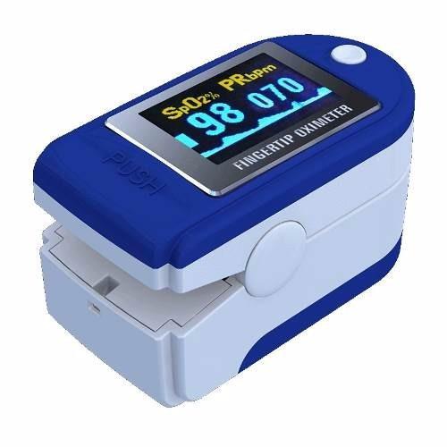 oximetro de pulso saturometro + bolso + pilas + entrega