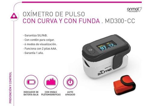 oximetro de pulso silfab md300-cc saturometro con funda
