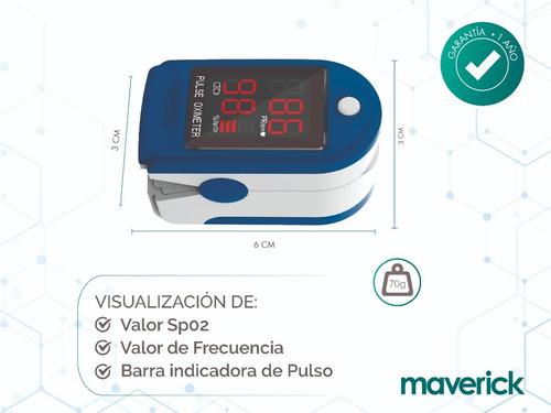 oxímetro maverick saturómetro de dedo cms50dl