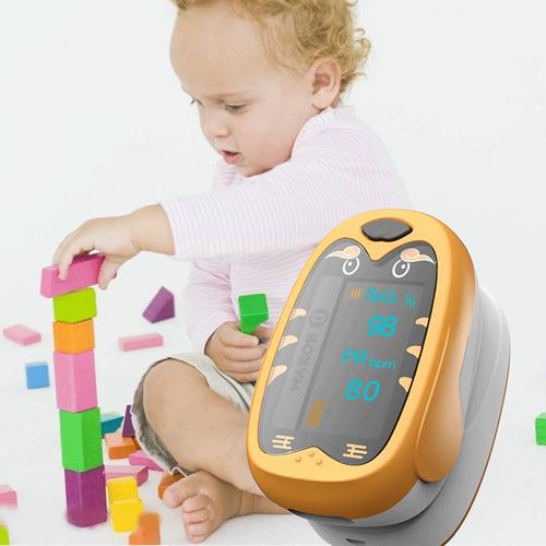 oxímetro pediátrico bebés niños niño pulso tarifa corazón