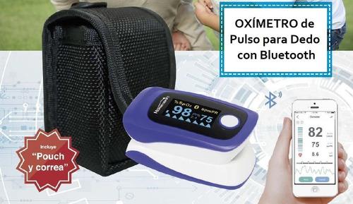 oxímetro pulso p/ dedo c/ bluetooth pantalla oled m70c