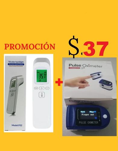 oxímetro pulsoxímetro + termómetro digital